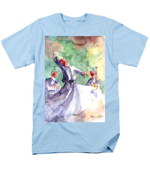 Whirling Dervishes Men's T-Shirt  (Regular Fit) by Faruk Koksal