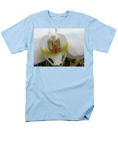 Men's T-Shirt  (Regular Fit) featuring the photograph White And Yellow Orchid by Caryl J Bohn