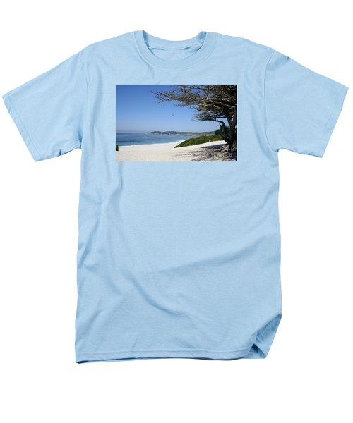White Beach At Carmel Men's T-Shirt  (Regular Fit) by Christiane Schulze Art And Photography