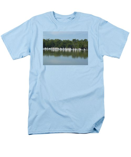 Men's T-Shirt  (Regular Fit) featuring the photograph White Pelicans by Robert Nickologianis