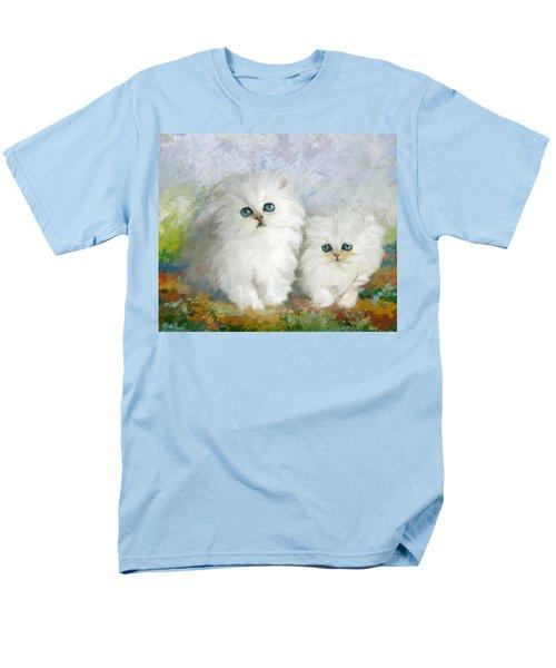 White Persian Kittens  Men's T-Shirt  (Regular Fit) by Catf