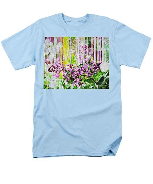Men's T-Shirt  (Regular Fit) featuring the photograph White Washed Painted Lilac by Judy Palkimas