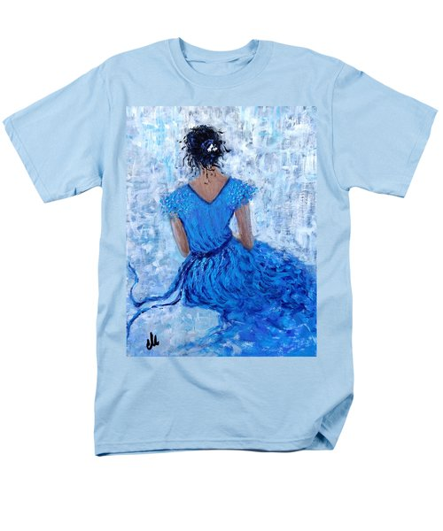 Men's T-Shirt  (Regular Fit) featuring the painting Wind Of Hope.. by Cristina Mihailescu
