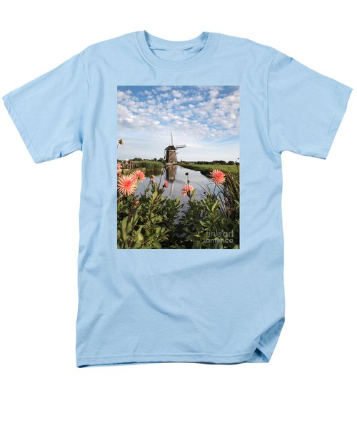 Windmill Landscape In Holland Men's T-Shirt  (Regular Fit)