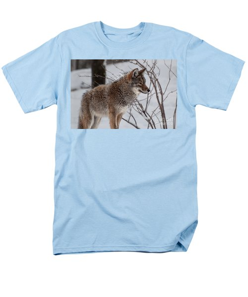 Men's T-Shirt  (Regular Fit) featuring the photograph Winter Coyote by Bianca Nadeau