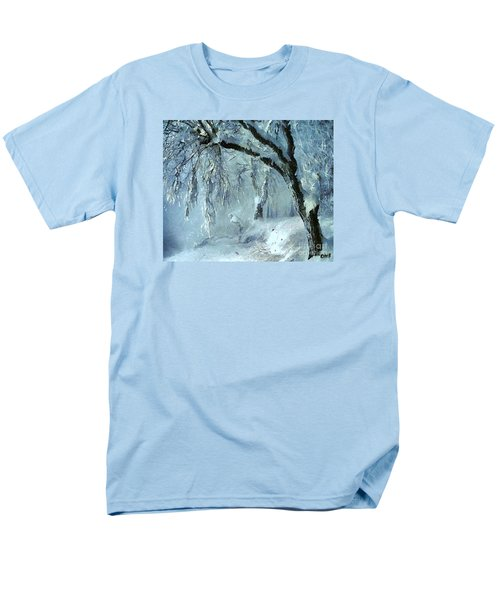 Men's T-Shirt  (Regular Fit) featuring the painting Winter Dreams by Dragica  Micki Fortuna