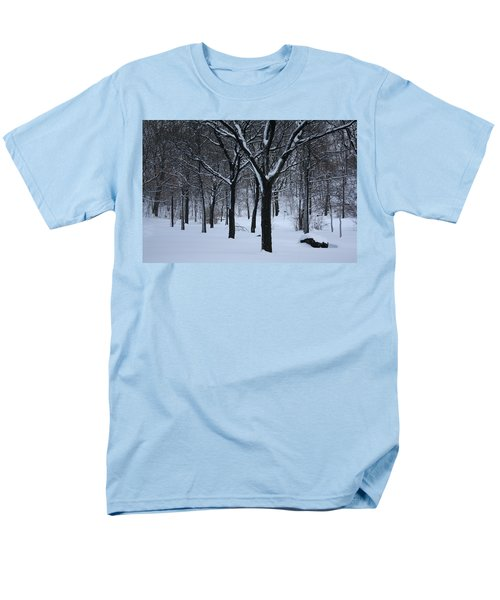 Men's T-Shirt  (Regular Fit) featuring the photograph Winter In The Park by Dora Sofia Caputo Photographic Art and Design