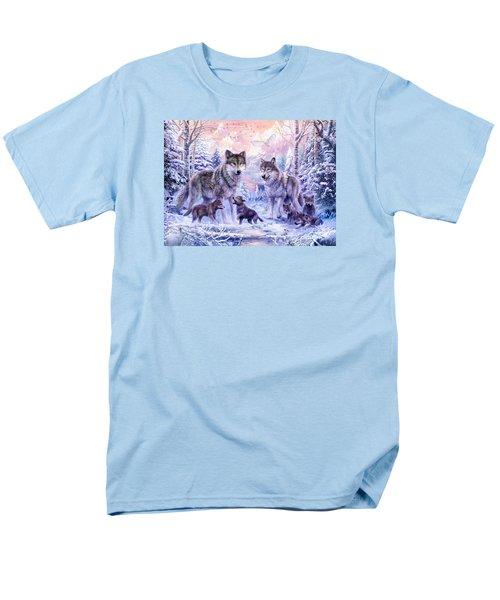 Winter Wolf Family  Men's T-Shirt  (Regular Fit) by Jan Patrik Krasny
