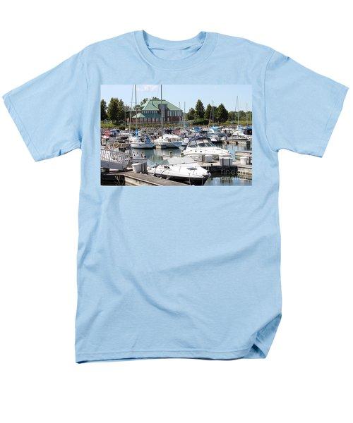 Men's T-Shirt  (Regular Fit) featuring the photograph Winthrop Harbor by Debbie Hart