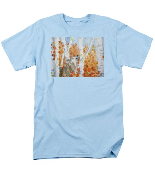 Men's T-Shirt  (Regular Fit) featuring the painting Wolf Call by Ellen Levinson