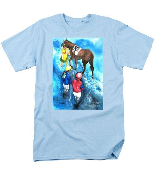 Men's T-Shirt  (Regular Fit) featuring the painting Giddy Up Girls by Therese Alcorn