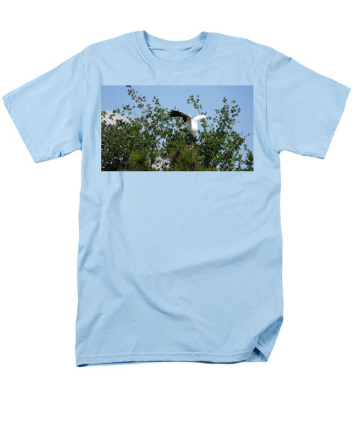 Men's T-Shirt  (Regular Fit) featuring the photograph Wood Stork by Ron Davidson