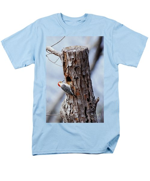 Woodpecker And Starling Fight For Nest Men's T-Shirt  (Regular Fit) by Gregory G. Dimijian
