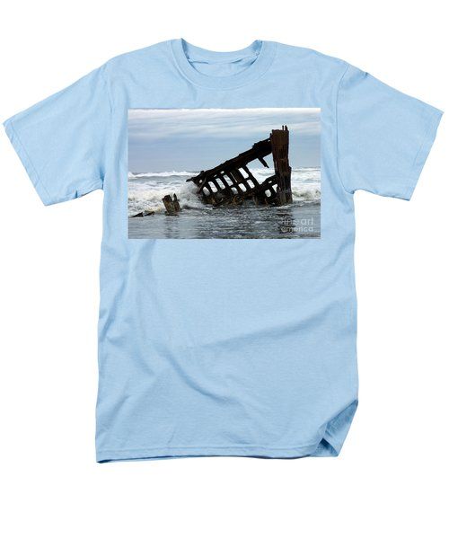 Men's T-Shirt  (Regular Fit) featuring the photograph Wreck Of The Peter Iredale by Chalet Roome-Rigdon