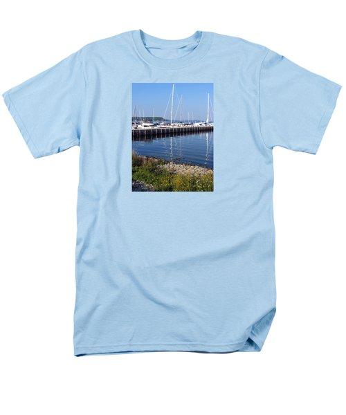 Yachtworks Marina Sister Bay Men's T-Shirt  (Regular Fit) by David T Wilkinson