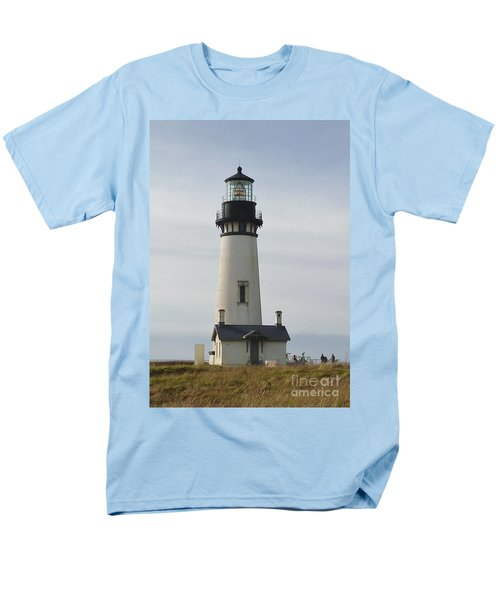 Men's T-Shirt  (Regular Fit) featuring the photograph Yaquina Bay Lighthouse by Susan Garren