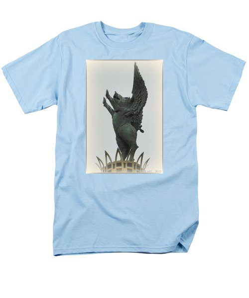 Yay Pigs Do Fly Men's T-Shirt  (Regular Fit) by Kathy Barney
