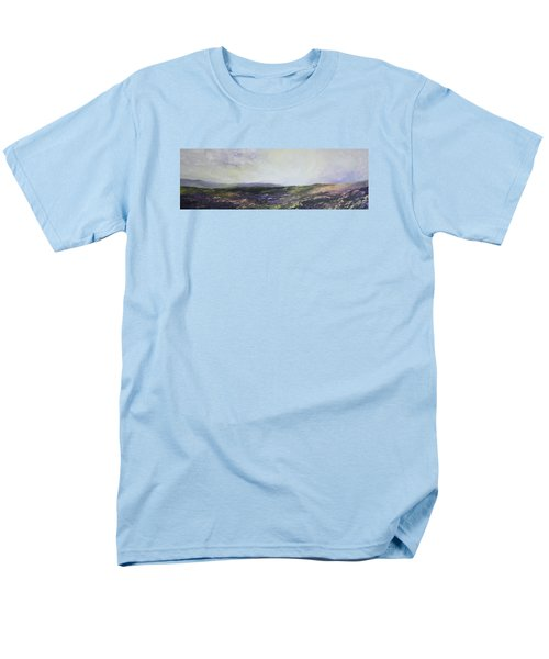 Men's T-Shirt  (Regular Fit) featuring the painting Yorkshire Moors by Jean Walker