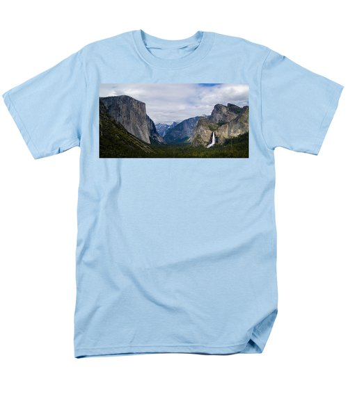 Yosemite Valley Panoramic Men's T-Shirt  (Regular Fit) by Bill Gallagher