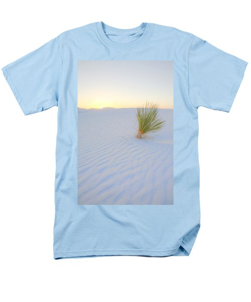 Men's T-Shirt  (Regular Fit) featuring the photograph Yucca Plant At White Sands by Alan Vance Ley