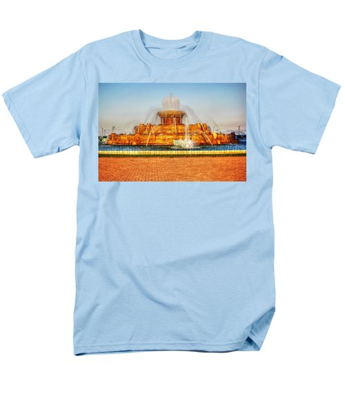 Buckingham Fountain Men's T-Shirt  (Regular Fit) by Dan Stone