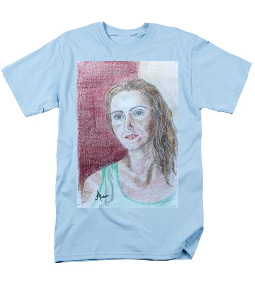 Men's T-Shirt  (Regular Fit) featuring the drawing Self Portrait by Anna Ruzsan