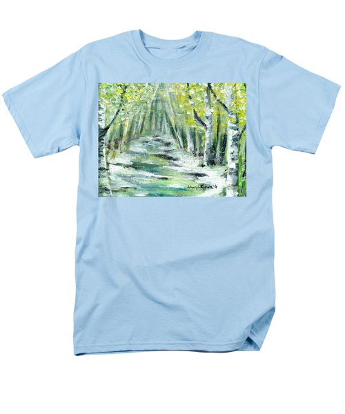 Men's T-Shirt  (Regular Fit) featuring the painting Spring by Shana Rowe Jackson