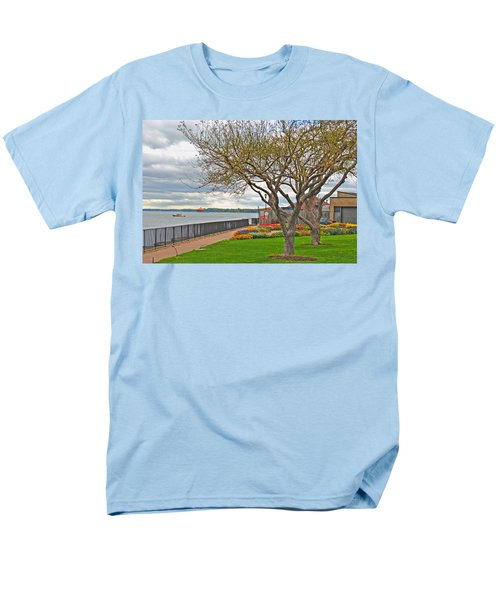 Men's T-Shirt  (Regular Fit) featuring the photograph A View From The Garden by Michael Frank Jr