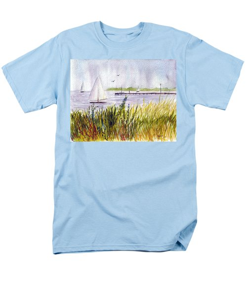 Men's T-Shirt  (Regular Fit) featuring the painting Barnegat Sails by Clara Sue Beym