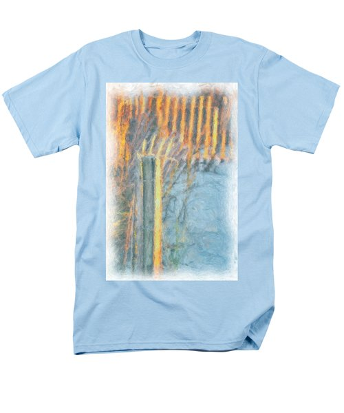 Men's T-Shirt  (Regular Fit) featuring the photograph Beach Fence by Lynne Jenkins