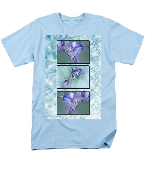 Men's T-Shirt  (Regular Fit) featuring the photograph Bluebell Triptych by Steve Purnell