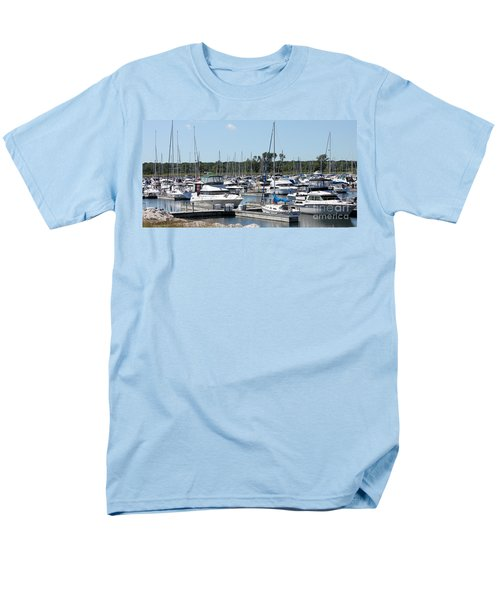 Men's T-Shirt  (Regular Fit) featuring the photograph Boats At Winthrop Harbor by Debbie Hart