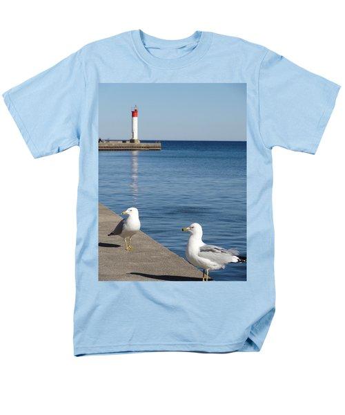 Men's T-Shirt  (Regular Fit) featuring the photograph Bronte Lighthouse Gulls by Laurel Best