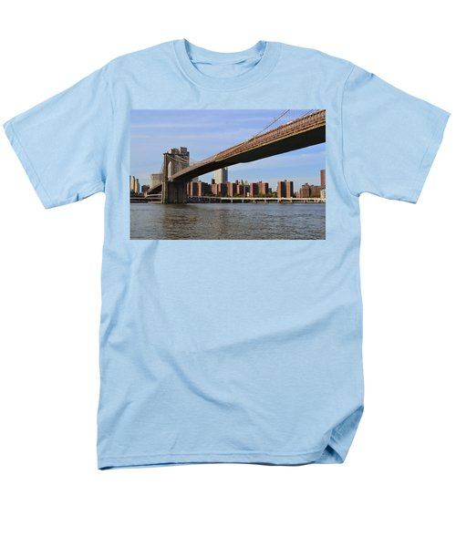 Men's T-Shirt  (Regular Fit) featuring the photograph Brooklyn Bridge1 by Zawhaus Photography