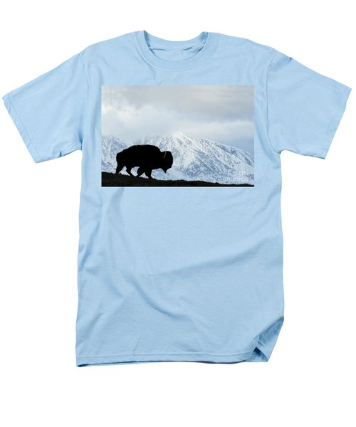 Men's T-Shirt  (Regular Fit) featuring the photograph Buffalo Suvived Another Yellowstone Winter by Dan Friend