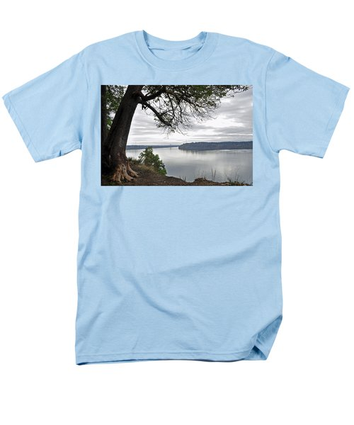 Men's T-Shirt  (Regular Fit) featuring the photograph By The Still Waters by Tikvah's Hope