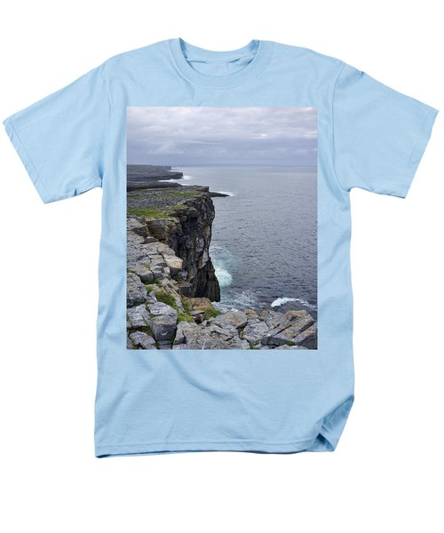 Men's T-Shirt  (Regular Fit) featuring the photograph Cliffs Of Inishmore by Hugh Smith