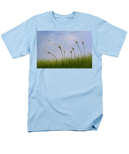 Men's T-Shirt  (Regular Fit) featuring the painting Contemporary Landscape Art Make A Wish By Amy Giacomelli by Amy Giacomelli