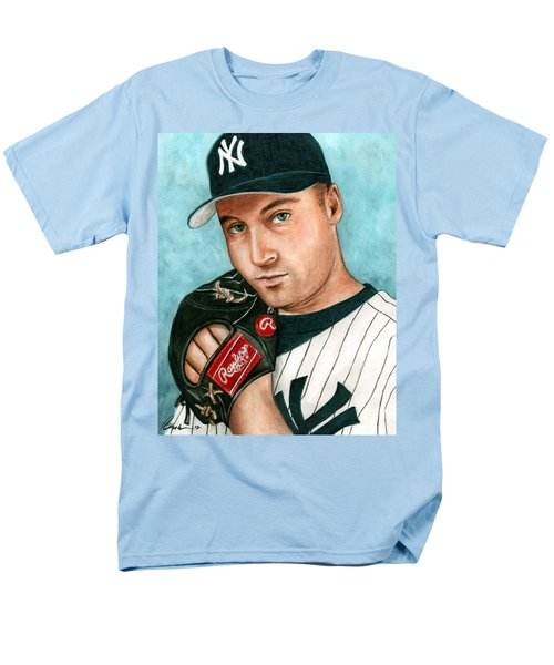 Derek Jeter  Men's T-Shirt  (Regular Fit) by Bruce Lennon