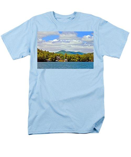 Distant Lake View In Spring Men's T-Shirt  (Regular Fit) by Susan Leggett