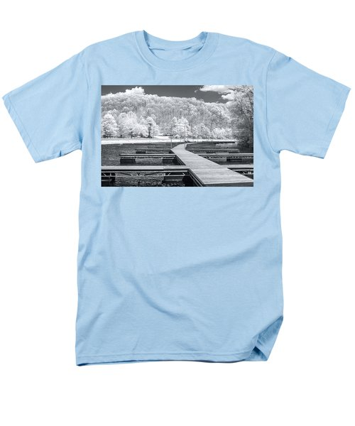Men's T-Shirt  (Regular Fit) featuring the photograph Dock In Infrared by Mary Almond