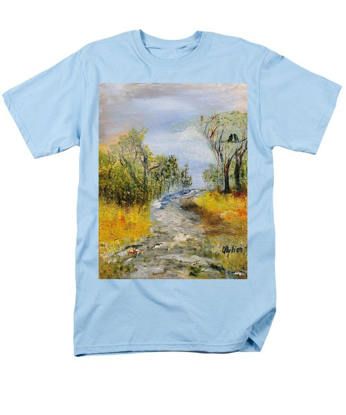 Men's T-Shirt  (Regular Fit) featuring the painting Evening Romance by Evelina Popilian