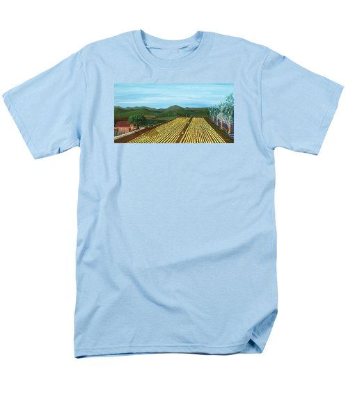 Field Of Yarrow-that's A Flower Men's T-Shirt  (Regular Fit) by Katherine Young-Beck
