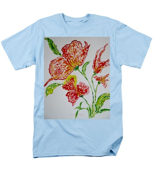 Men's T-Shirt  (Regular Fit) featuring the painting Florals by Sonali Gangane