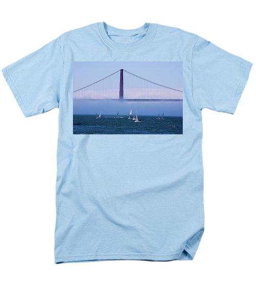 Men's T-Shirt  (Regular Fit) featuring the photograph Golden Gate Windsurfers by Don Schwartz