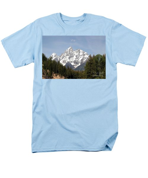 Men's T-Shirt  (Regular Fit) featuring the photograph Grand Tetons by Living Color Photography Lorraine Lynch