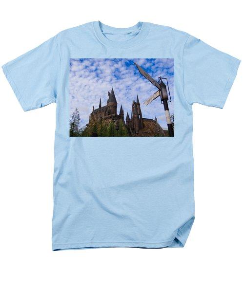 Men's T-Shirt  (Regular Fit) featuring the photograph Hogwarts Castle by Julia Wilcox