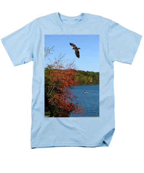 Men's T-Shirt  (Regular Fit) featuring the photograph Juvenile And Fishermen by Randall Branham