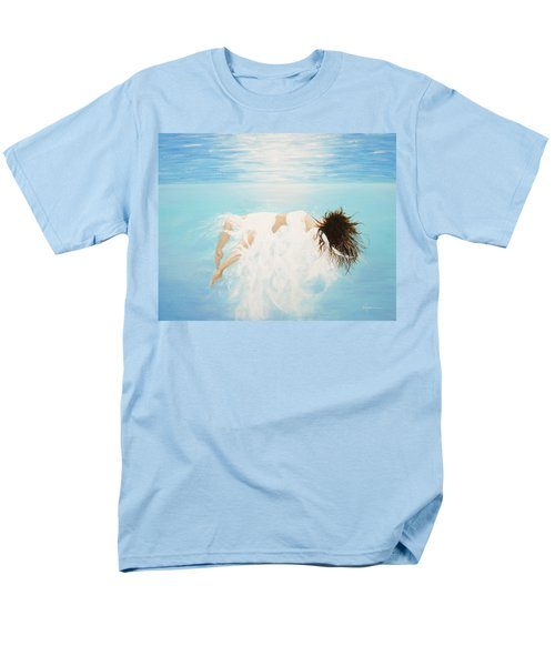 Men's T-Shirt  (Regular Fit) featuring the painting Lady Of The Water by Kume Bryant
