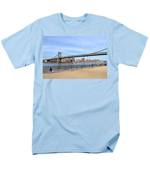 Men's T-Shirt  (Regular Fit) featuring the photograph Manhattan Bridge1 by Zawhaus Photography